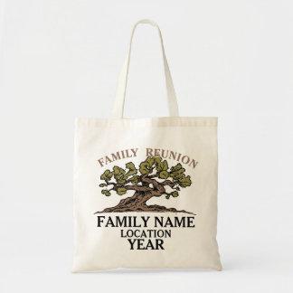 Totot för familjmöteträd hänger lös tygkasse