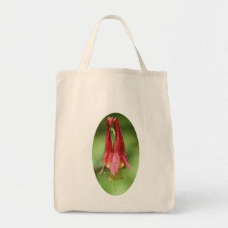 Totot för foto för den vildColumbine blomman hänge Tygkasse