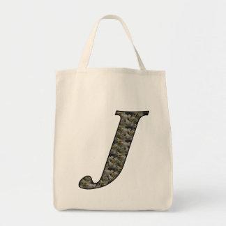 Totot för initial J vanlig hortensia för Monogram  Tote Bag
