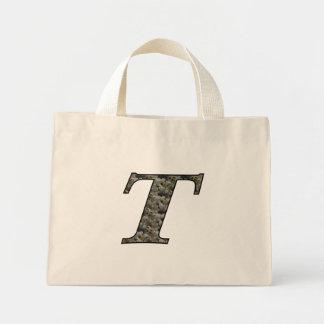 Totot för initial T vanlig hortensia för Monogram  Tygkasse