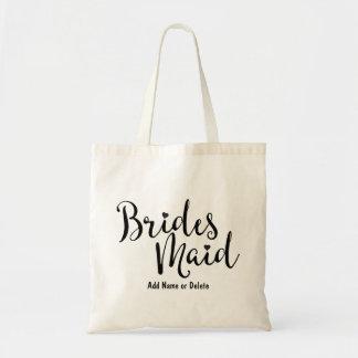 Totot för kanfas för brudtärnabröllopbudget hänger budget tygkasse