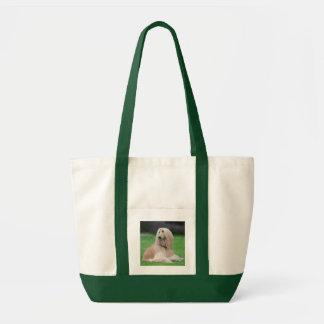Totot för kanfas för foto för afghansk hundhund tygkasse