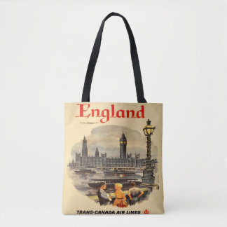 Totot för London England vintagestil hänger lös Tygkasse