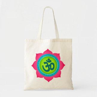 Totot för lotusblomma för YogaOm Namaste hänger lö Tygkasse