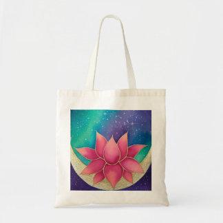 Totot för lotusblommablommagalax hänger lös tygkasse