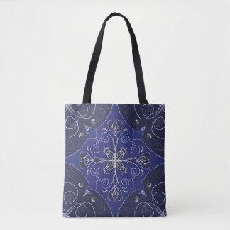 Totot för mönster för stil för blåttmarin hänger tygkasse