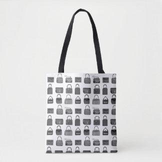 Totot för mönster för vintagemodehandväska hänger tygkasse