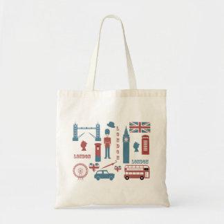 Totot för souvenir för kärlek för London symboler Tygkasse