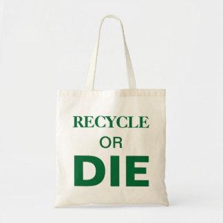 Totot för text för återvinna- eller matrisslogan budget tygkasse