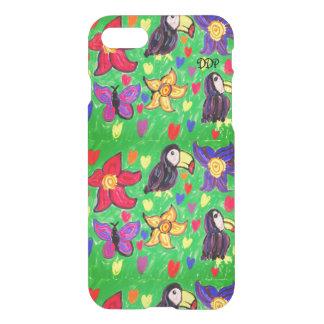 Toucan blommafjäril iPhone 7 skal