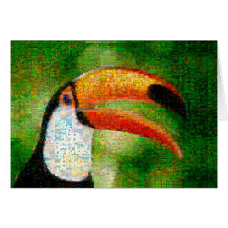 Toucan collage-toucankonst - collagekonst OBS kort