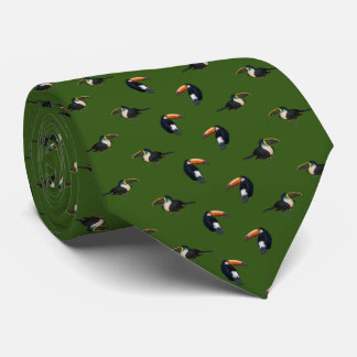Toucan frenesiTie (mörk - grönt) Slips