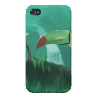 Toucan i rainforesten iPhone 4 skydd