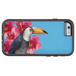 Toucan med röda tropiska blommor tough xtreme iPhone 6 skal