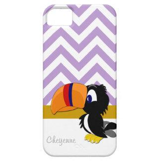 Toucan purpurfärgad sparreiPhone 5 knappt där iPhone 5 Case-Mate Skydd