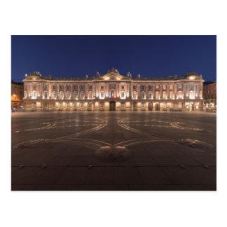 Toulouse Capitole natt Vykort