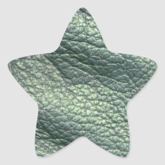 Tourquoise läder stjärnformat klistermärke