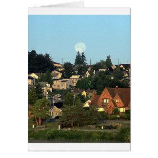 town & land hälsningskort