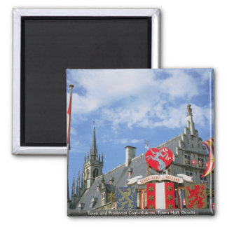 Town och provinsiell vapensköld, stadshus, Gouda Magnet