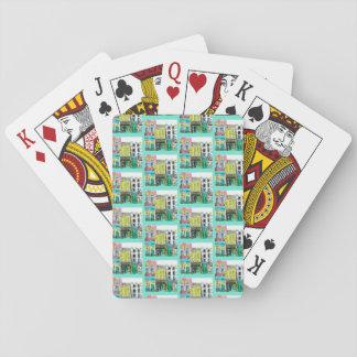 Town som leker kort, aqua casinokort