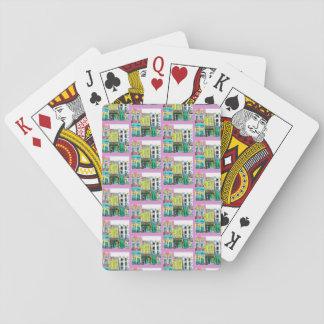 Town som leker kort casinokort