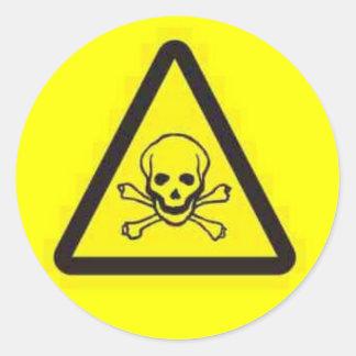 toxic_hazard rund klistermärke