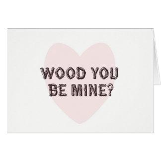 Trä är du det min valentin dagkortet hälsningskort