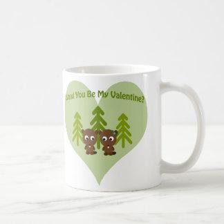 Trä är du min valentin kaffemugg