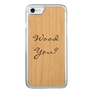 Trä dig? carved iPhone 7 skal