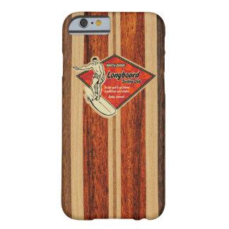 Trä för Faux för Waimea surfingbräda hawaianskt Barely There iPhone 6 Skal