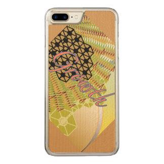 Trä för lönn för plus för tillväxtiPhone 6/6s Carved iPhone 7 Plus Skal