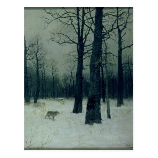 Trä i vintern, 1885 vykort