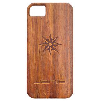 Trä-looken sniden skräddarsy iPhone5 täcker iPhone 5 Case-Mate Fodraler