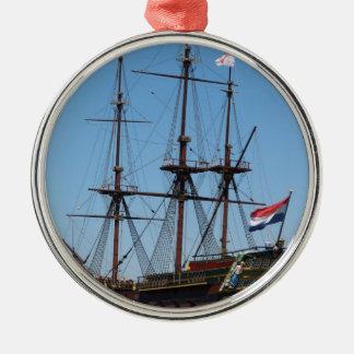 TräAmsterdam seglar fraktVOC - spänna Julgransprydnad Metall