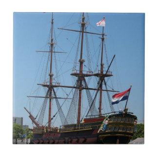 TräAmsterdam seglar fraktVOC - spänna Kakelplatta