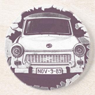 Trabant bil, svart & vit, Berlin vägg (1) Underlägg