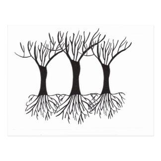 Träd av beröm vykort