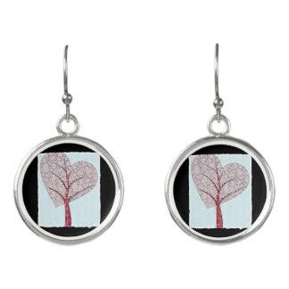 Träd av kärlek örhängen