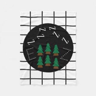 Träd Blanket1 för pläd för drömlik ZZZs Monogram Fleecefilt