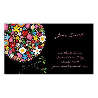 träd Businesscard för fatfatinvår blommorpop Visit Kort