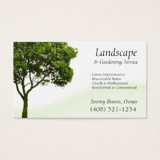 Träd- eller gräsmattaomsorgvisitkort visitkort