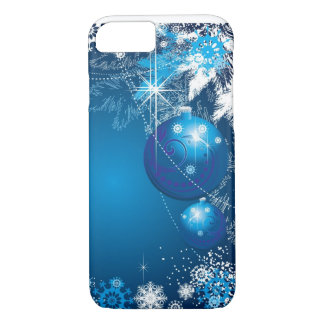 Träd för blått för helgdagsnöflingorprydnad