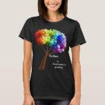 Träd för pussel för Autismmedvetenhetregnbåge Tröjor