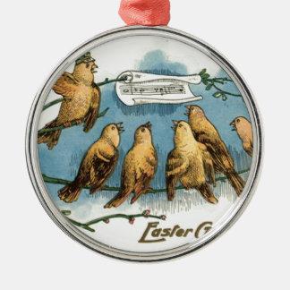 Träd för sång för Songbirdkörhimmel sjungande Julgransprydnad Metall