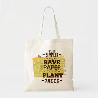 Träd för sparapappersspara budget tygkasse
