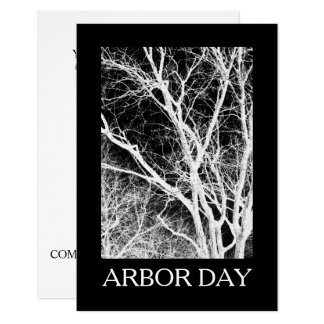 träd för spöke för axeldag 8,9 x 12,7 cm inbjudningskort