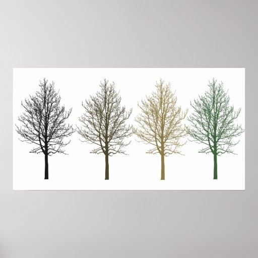 Träd fyra färger