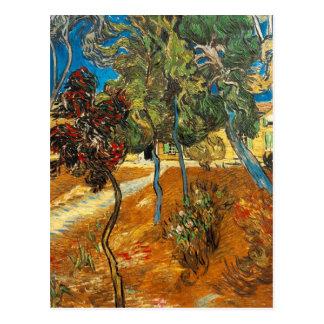 Träd i asylträdgården av Vincent Van Gogh Vykort