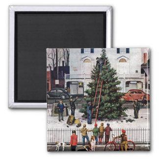 Träd i Town kvadrerar Magnet