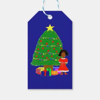 Träd-Marin för kakaoCutie jul Presentetikett